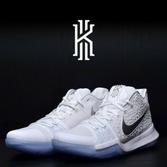 kyrie 3 white and chrome